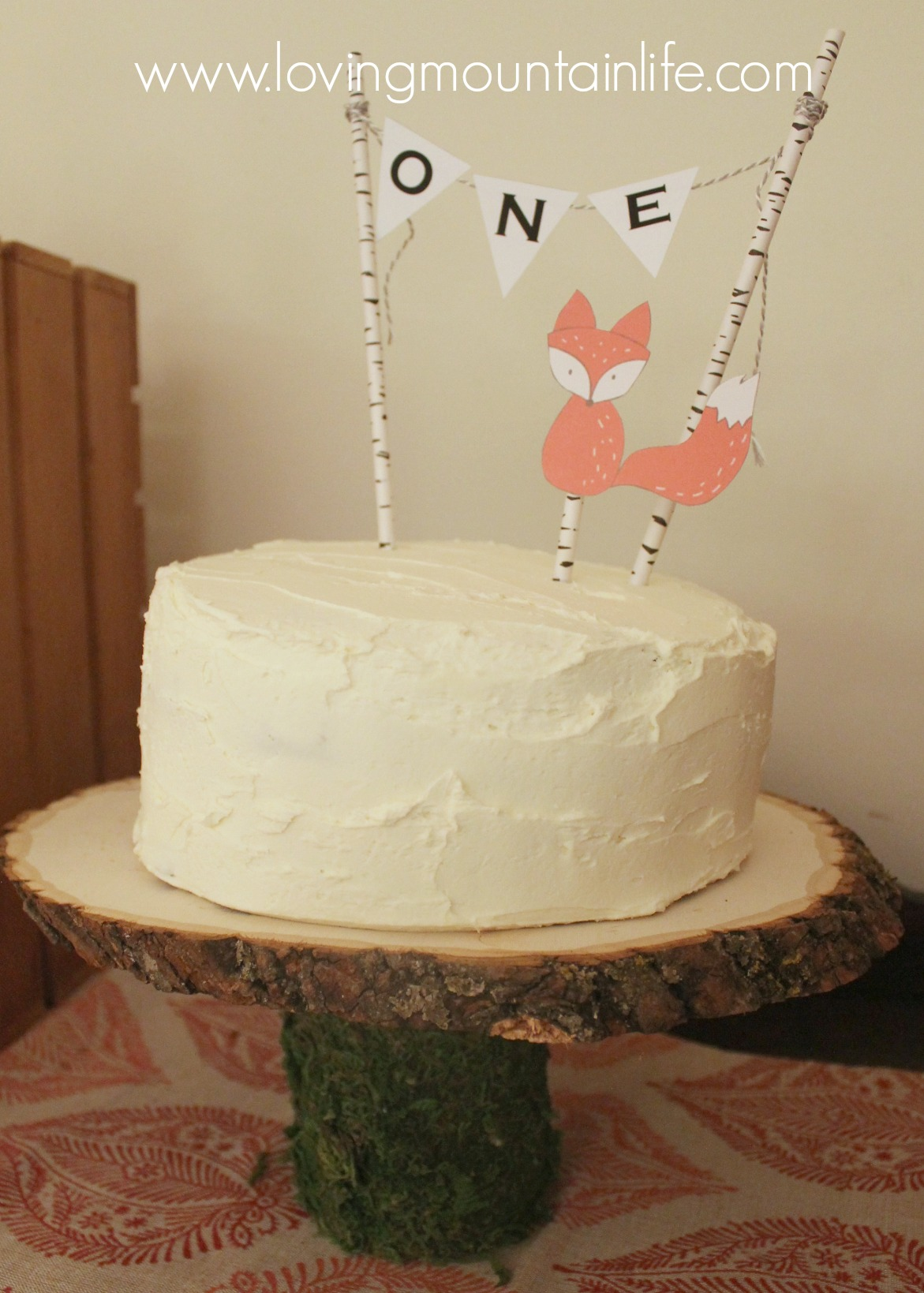 diy one bunting cake topper loving mountain life
